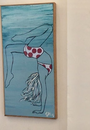 (CreativeWork) handstand by Richard John. Acrylic Paint. Shop online at Bluethumb.
