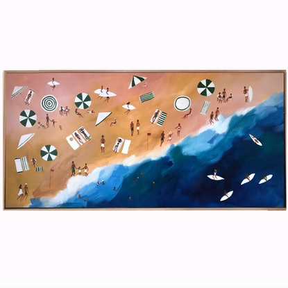 (CreativeWork) Crowded Coast by Marnie McKnight. #<Filter:0x000055c87b8ed7f0>. Shop online at Bluethumb.