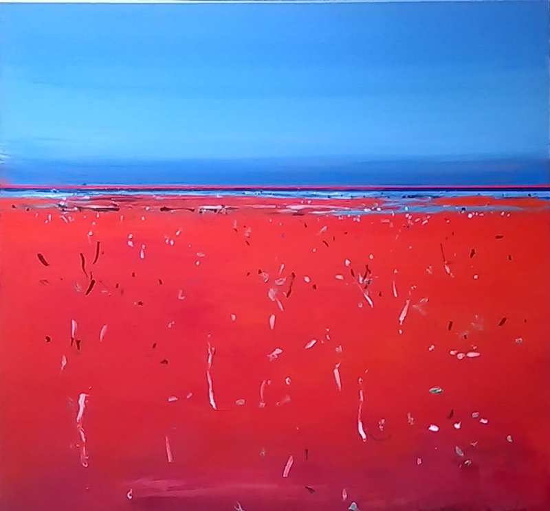 (CreativeWork) Distant  Lagoon Vistas 1 Outback by Faye De Pasquale. Acrylic Paint. Shop online at Bluethumb.