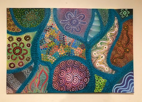 (CreativeWork) Seasons  by Renee Clifton. Acrylic Paint. Shop online at Bluethumb.