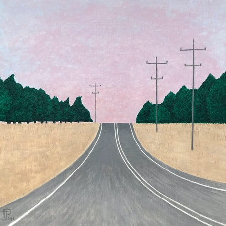 (CreativeWork) The Ride Home by Theresa J Poulsom. Acrylic. Shop online at Bluethumb.