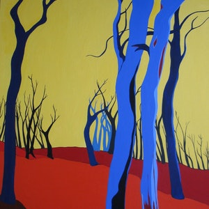 (CreativeWork) Blue Trees   by Marian Quigley. #<Filter:0x000055c8c9e73e60>. Shop online at Bluethumb.