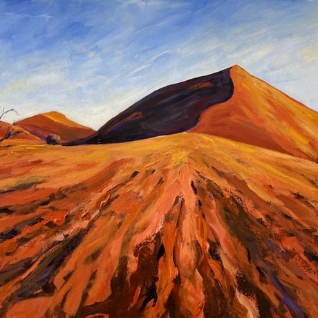 (CreativeWork) Desert Sands by Jenny Moynahan. Acrylic Paint. Shop online at Bluethumb.
