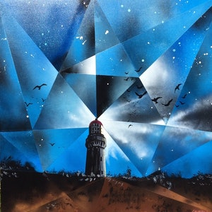 (CreativeWork) Through the Kaleidoscope_Cape Schanck Lighthouse_Victoria by John Gambardella. #<Filter:0x000055ad69da9668>. Shop online at Bluethumb.