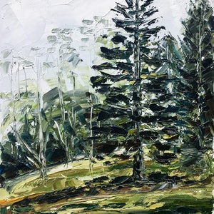 (CreativeWork) 'A Stitch In Time' Plein-Air Tamborine Mountain Gold Coast Hinterland by Michelle Keighley. #<Filter:0x0000556fa5c52708>. Shop online at Bluethumb.