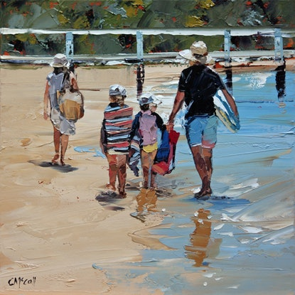(CreativeWork) Another Beach Day Done II Ed. 2 of 100 by Claire McCall. Print. Shop online at Bluethumb.