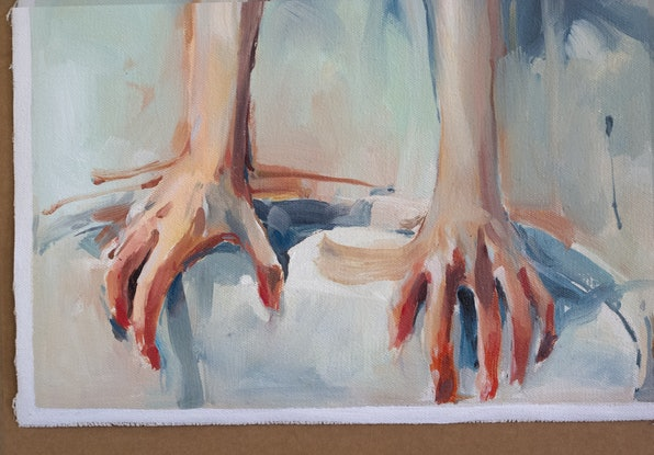 (CreativeWork) At the Table by Tony Belobrajdic. Oil Paint. Shop online at Bluethumb.