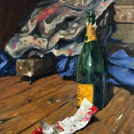 (CreativeWork) Evening in the studio by James Needham. Oil Paint. Shop online at Bluethumb.