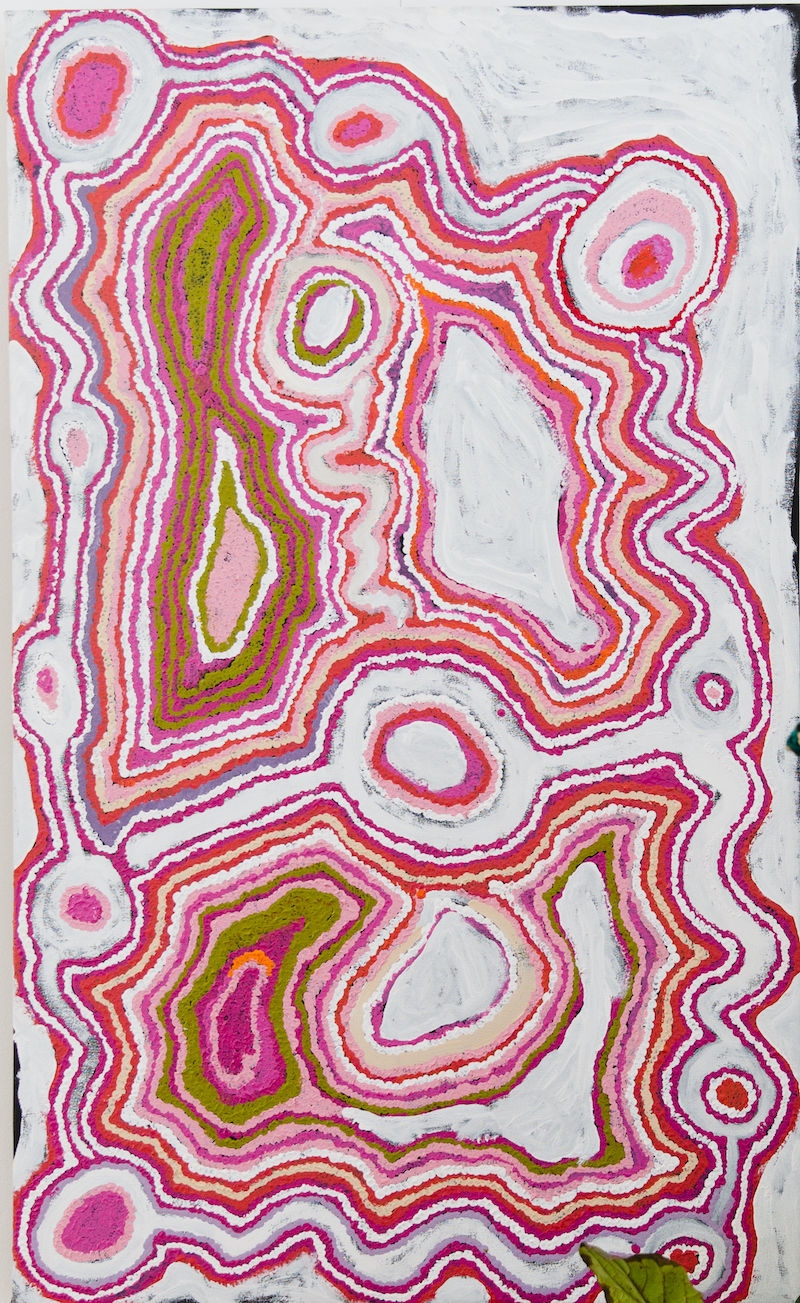 (CreativeWork) Pukara Rock Hole 15-339 by Jimmy Donegan. Acrylic Paint. Shop online at Bluethumb.