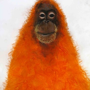 (CreativeWork) Orangutan  by John Graham. #<Filter:0x0000563b6c4ea4f0>. Shop online at Bluethumb.