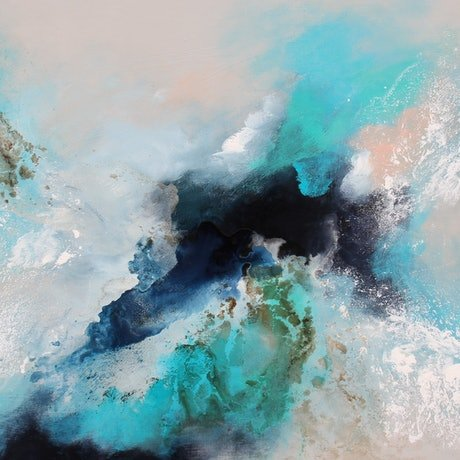(CreativeWork) Distant waters  by Sue Dyde. Mixed Media. Shop online at Bluethumb.