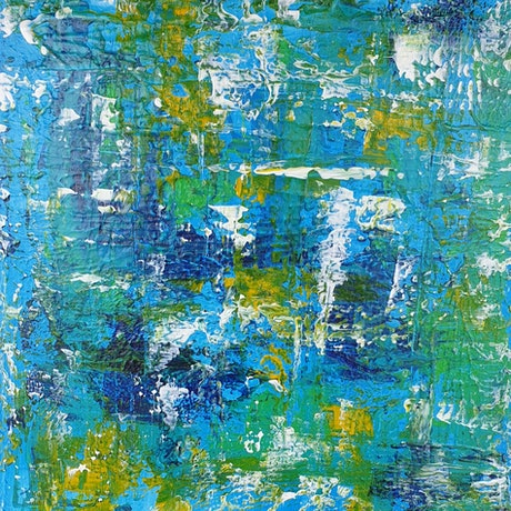 (CreativeWork) Cool Blue by Judi Goodwin. Acrylic Paint. Shop online at Bluethumb.