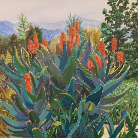 (CreativeWork) Just a Beautiful Memory from Mt Tomah Botanical Gardens by Monika Scheffler. Acrylic Paint. Shop online at Bluethumb.