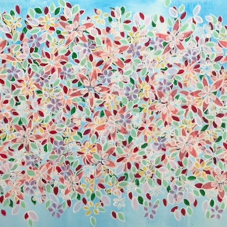 (CreativeWork) Nothing but flowers  CZ19051 by Carol Zsolt. Acrylic Paint. Shop online at Bluethumb.