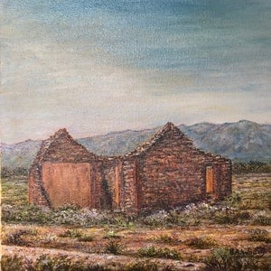(CreativeWork) Abandoned dreams in a ruined farmhouse. Flinders Ranges by Henry Wood. #<Filter:0x000055fa3e2989c8>. Shop online at Bluethumb.