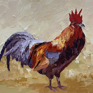 (CreativeWork) Reggie Rooster by Chris mercer. #<Filter:0x0000559d21b6e220>. Shop online at Bluethumb.