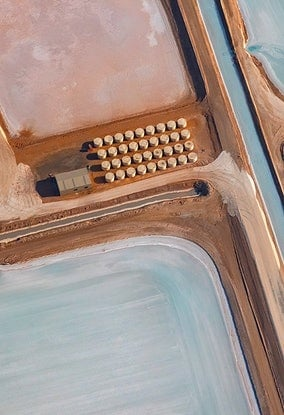 (CreativeWork) Abstract Aerial of Salt Farm #2 Ed. 1 of 5 Ed. 1 of 5 by Craig Hammersley. Photograph. Shop online at Bluethumb.