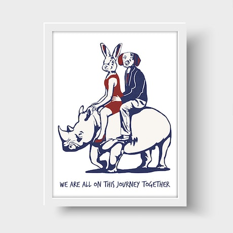 (CreativeWork) We are all on this journey together by Gillie and Marc Schattner. Print. Shop online at Bluethumb.