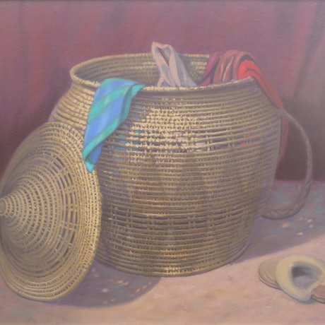 (CreativeWork) FIONIA'S  BASKET by Glen Gillard. Oil Paint. Shop online at Bluethumb.