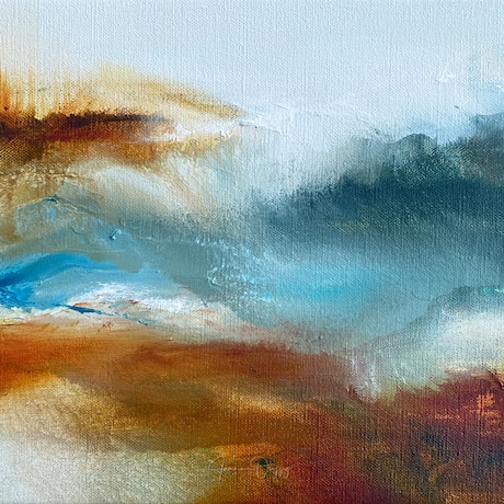 (CreativeWork) Dune by Joanne Duffy. Oil Paint. Shop online at Bluethumb.
