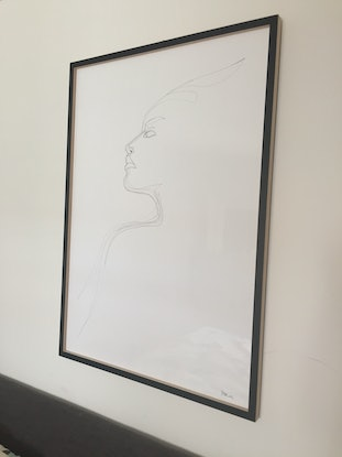(CreativeWork) Contemplate -Framed by Phil Herbison. Drawings. Shop online at Bluethumb.
