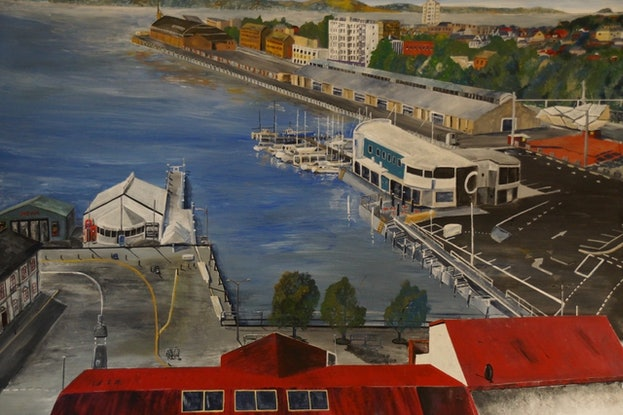 (CreativeWork) A Premier's View by Christopher Johnston. Acrylic Paint. Shop online at Bluethumb.