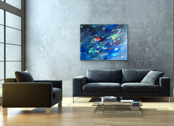 (CreativeWork) Black Opal by Meredith Howse. Acrylic Paint. Shop online at Bluethumb.