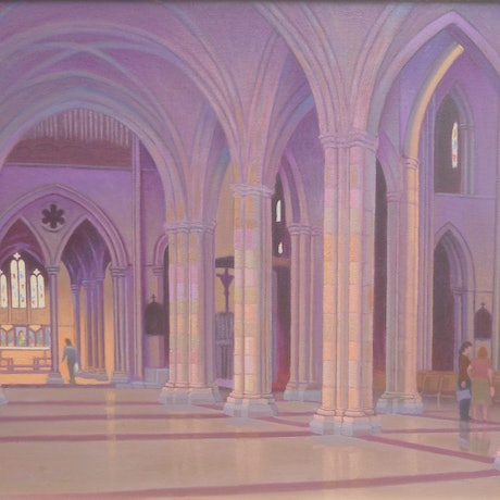 (CreativeWork) ST. JOHN'S ANGLICAN CATHEDRAL - BRISBANE by Glen Gillard. Oil Paint. Shop online at Bluethumb.