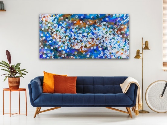 (CreativeWork) Aqueous Pulse V - Large Original Abstract Painting by Jacquelyn Stephens. Acrylic Paint. Shop online at Bluethumb.