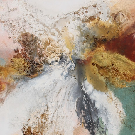(CreativeWork) Minerals  by Sue Dyde. Mixed Media. Shop online at Bluethumb.