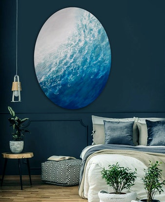 (CreativeWork) Ocean Melody by Brigitte Ackland. Acrylic Paint. Shop online at Bluethumb.