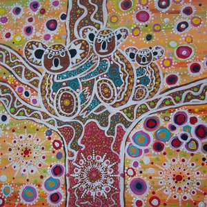 (CreativeWork) Koala Totem, Spirit Animal by Cynthia Farr BARUNGGUM. Acrylic Paint. Shop online at Bluethumb.