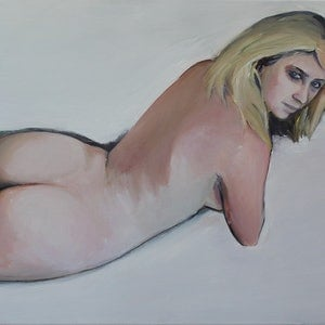 (CreativeWork) Nude 6 (Back Study) by Glenn Miller. Oil Paint. Shop online at Bluethumb.