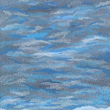 (CreativeWork) Skies over steel creek mountain by Jennifer Bell. Acrylic Paint. Shop online at Bluethumb.