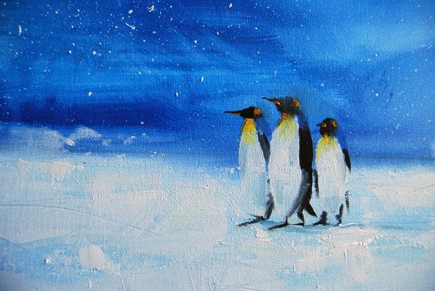 (CreativeWork) The emperors march by Trevor Salisbury. Oil Paint. Shop online at Bluethumb.