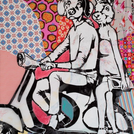 (CreativeWork) They really popped together by Gillie and Marc Schattner. Print. Shop online at Bluethumb.