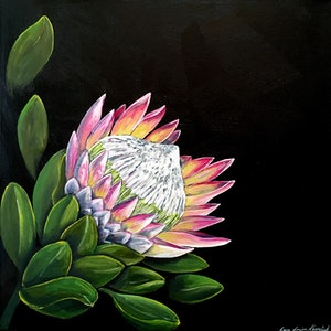 (CreativeWork) Vibrant Protea by Lara Louise Karpeljuk. #<Filter:0x0000564b6fdd3608>. Shop online at Bluethumb.