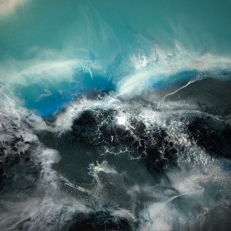 (CreativeWork) Ocean Commotion by Lisa Brockman. Resin. Shop online at Bluethumb.