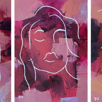 (CreativeWork) SHE IS No 16 set of three by Damien Venditti. #<Filter:0x00007fd661077d00>. Shop online at Bluethumb.