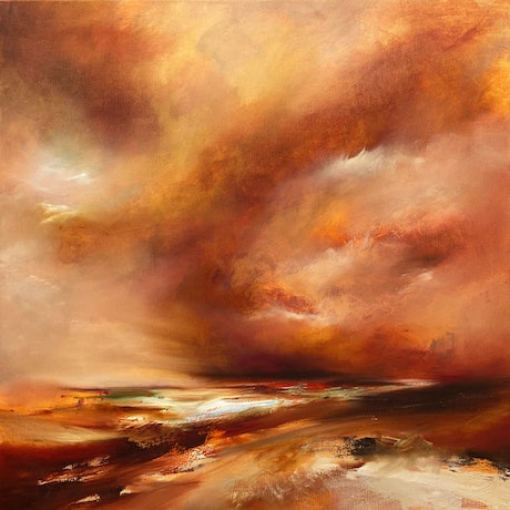(CreativeWork) Dust Storm (1977) by Joanne Duffy. Oil Paint. Shop online at Bluethumb.
