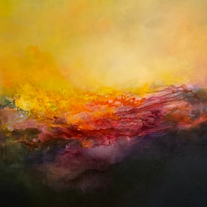 (CreativeWork) Mystery of Light by Kris Ancog. Mixed Media. Shop online at Bluethumb.
