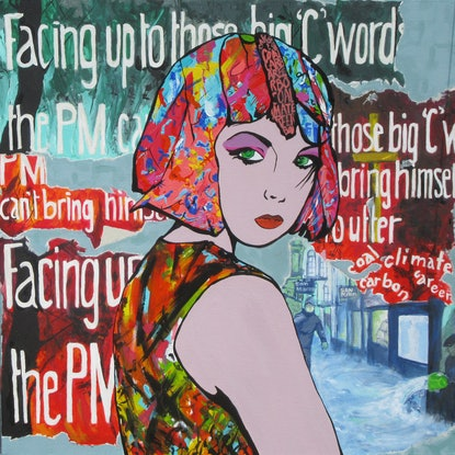 (CreativeWork) Facing up to the 'C' words by Lesley Taylor. Acrylic Paint. Shop online at Bluethumb.