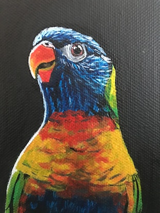 (CreativeWork) FLY BABY FLY - V by Priya Gore. Acrylic Paint. Shop online at Bluethumb.