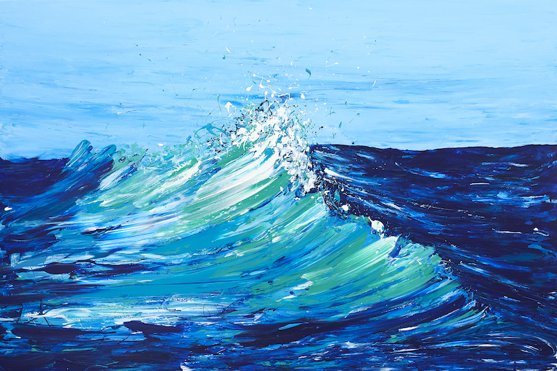 (CreativeWork) Wave Series - A Fresh Break by Annette Spinks. Acrylic Paint. Shop online at Bluethumb.