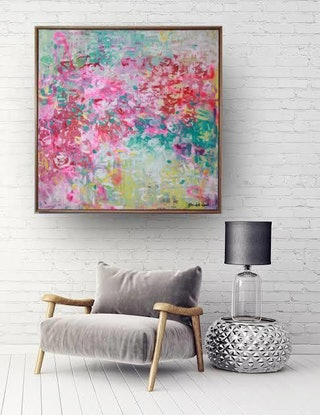 (CreativeWork) Forever Feeling Your Love by Belinda Nadwie. Oil Paint. Shop online at Bluethumb.