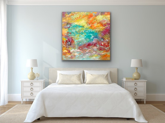 (CreativeWork) Tranquility  by Theo Papathomas. Acrylic Paint. Shop online at Bluethumb.