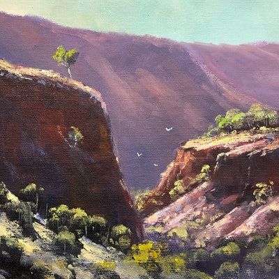 (CreativeWork) Ormiston Gorge Walk by John Rice. #<Filter:0x000055870b8ffe70>. Shop online at Bluethumb.