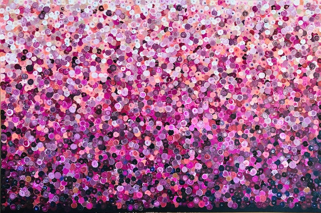 (CreativeWork) Bellisima 183x122  framed large abstract  by Sophie Lawrence. Acrylic Paint. Shop online at Bluethumb.