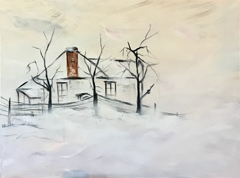 (CreativeWork) Still Standing by Louise Croese. Acrylic Paint. Shop online at Bluethumb.