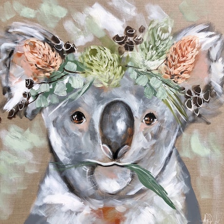 (CreativeWork) Rain maker Koala  Ed. 2 of 10 by Amanda Brooks. Print. Shop online at Bluethumb.